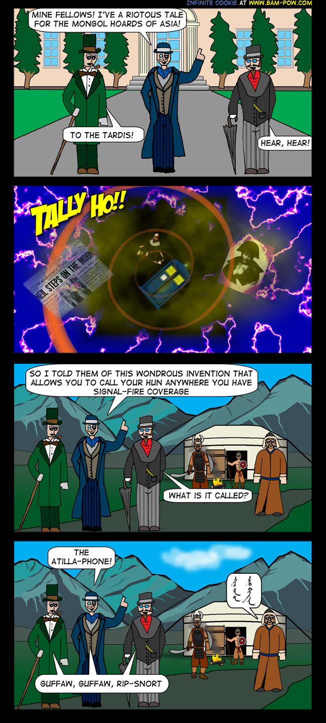 It's rather ironic that the time travel comic is posted late...